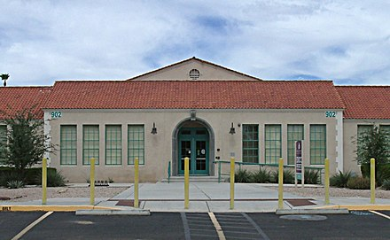 The Buckeye Union High School A-Wing is listed on the National Register of Historic Places Buckeye-Buckeye Union High School A-Wing-1.JPG
