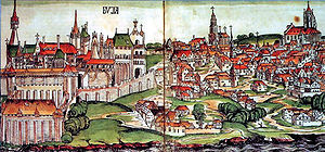 Buda during the Middle Ages. From the Chronicles of Hartmann Schedel