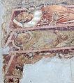 Buffalmacco, trionfo della morte, incontro dei tre vivi coi tre morti 06 sepolcri.JPG