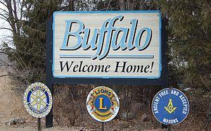Buffalo, Minnesota - Welcome sign entering Buffalo