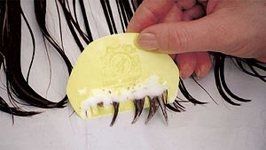 Lice comb (Bug Buster) wet combing with condit...
