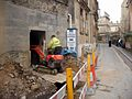 Building excavation in Queen's Lane, Oxford, England.jpg