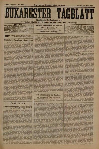 File:Bukarester Tagblatt 1910-05-15, nr. 106.pdf