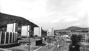Suhl - The new city centre in 1974