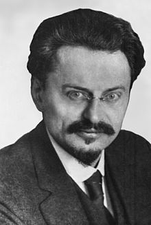 A photograph of Trotsky in 1929