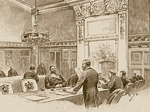 Constitution of the German Empire - The chamber of the Bundesrat in the Reichstag building, 1894