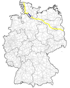 Bundesstraße 5 - Image: Bundesstraße 5 Verlauf