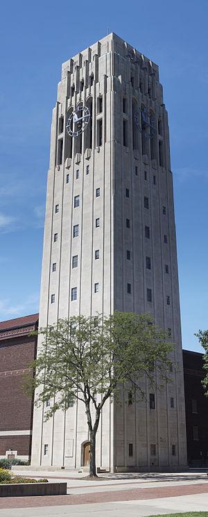 Charles A. Baird - The Charles Baird Carillon is housed in the Burton Memorial Tower.