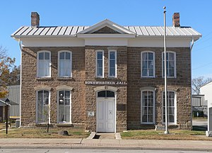 National Register of Historic Places listings in Vernon County, Missouri - Image: Bushwhacker Museum from E 1
