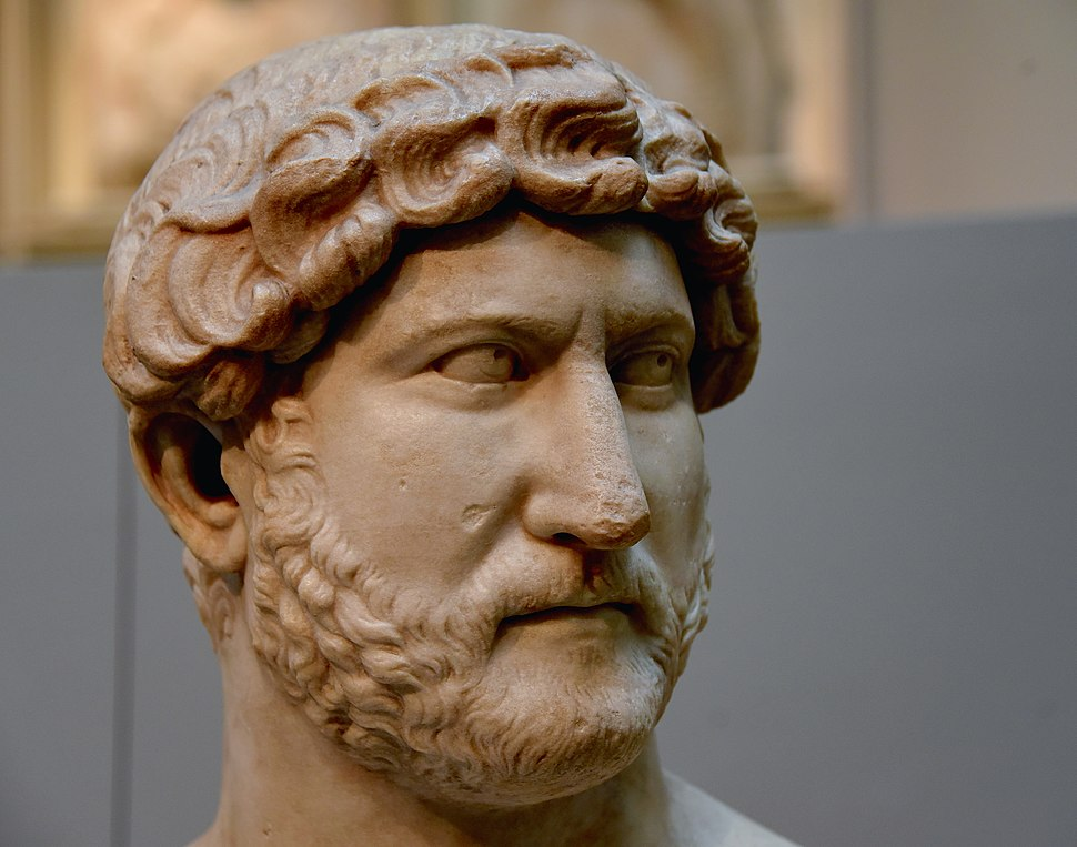 Bust of Emperor Hadrian. Roman 117-138 CE. Probably From Rome, Italy. Formerly in the Townley Collection. Now housed in the British Museum, London