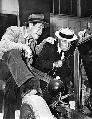 Route 66 (TV series) - Image: Buster Keaton Joe E Brown Route 66 1962