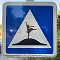 C27 (road sign, France) with a drawing of dancer (May 2020).jpg