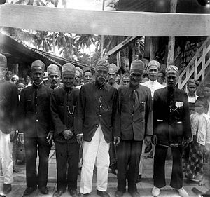 Palembang - Local elders of Palembang during colonial period.