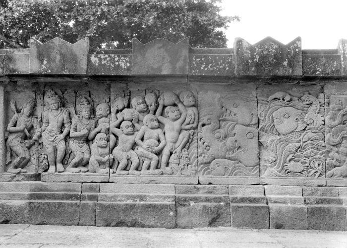 COLLECTIE TROPENMUSEUM Reliëf op de aan Shiva gewijde tempel op de Candi Lara Jonggrang oftewel het Prambanan tempelcomplex TMnr 10016180