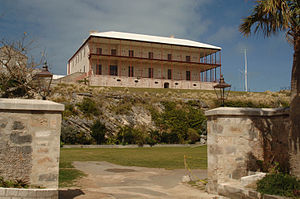 Edward Holl - Commissioner's House in Bermuda, designed by Edward Holl