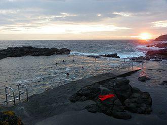 Sea bathing - Kiama sea baths in New South Wales, Australia
