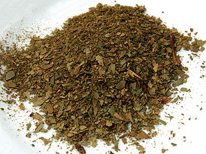 Tasmannia lanceolata - Dried and crushed Mountain pepper leaves