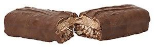 Double Decker (chocolate bar) - A Double Decker split in half.