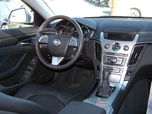 Interior of the 2008 Cadillac CTS (US model sh...