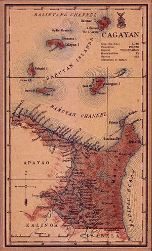 Cagayan - An old map of Cagayan during the 1918 Census