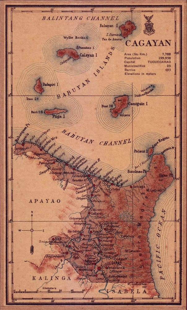 Cagayan province 1918 map