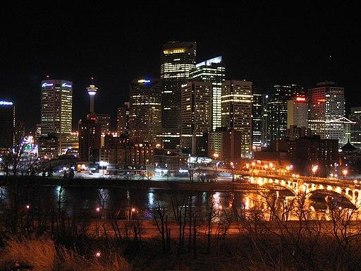 Calgary Downtown night