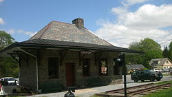 Califon Station, built in 1893 in downtown, as seen in April 2011.