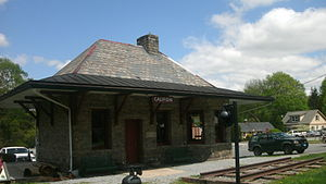 Califon, New Jersey - Califon Station, built in 1893 in downtown, as seen in April 2011.
