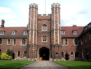 Frank Rutter - Old Court Gatehouse of Queens' College, Cambridge