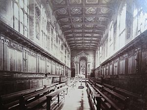 Trinity College Chapel, Cambridge - Chapel interior, c. 1870