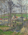 Camille Pissarro - The banks of the Viosne at Osny in grey weather, winter - Google Art Project.jpg
