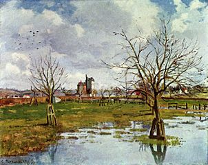 Flood at Saint-Ouen-L'Aumône