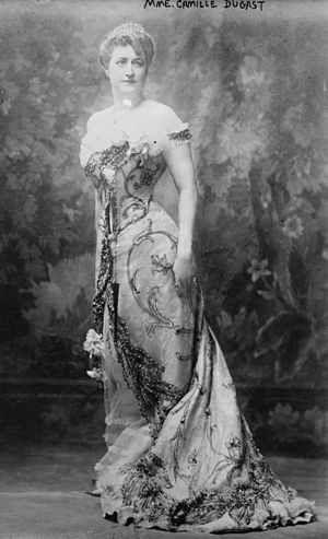 Camille du Gast - presumed c.1890s Full body publicity picture for a piano recital.jpg