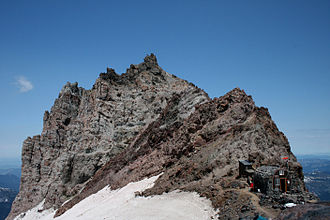 Emmons Glacier - The Ranger Station at Camp Schurman on the Emmons Glacier at Mt. Rainier, WA