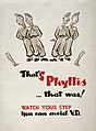 Campaign against syphilis, 1943-44; poster Wellcome L0025270.jpg