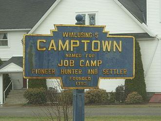 Camptown Races - Image: Camptown Keystone Marker