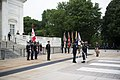 Canadian Minister of Defence, Harjit Sajjan, Lays a Wreath at the Tomb of the Unknown Soldier (34805840266).jpg