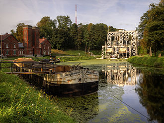 Wallonia - The boat lifts on the old Canal du Centre were first opened in 1888, and they are now a World Heritage Site.