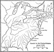 USA canals circa 1825