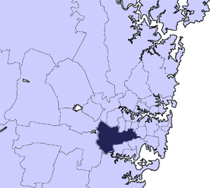 Canterbury-Bankstown Council - Location of Canterbury-Bankstown in Sydney area