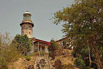 Cape Bojeador Lighthouse - The lighthouse as viewed in September 2012