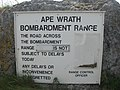 Cape Wrath Bombardment Range Warning Notice - geograph.org.uk - 304468.jpg