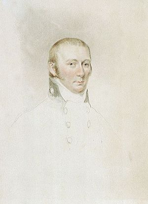 Edward Riou - 'Captain Edward Riou',watercolour, by John Jackson