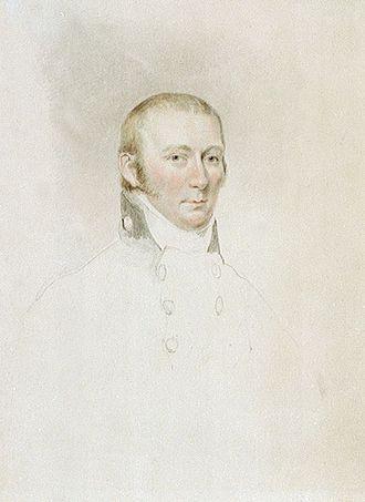 Edward Riou - 'Captain Edward Riou',watercolour, by John Jackson