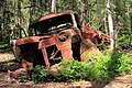Car-wreck in woodland near town Ryd in South-Sweden.jpg