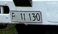 Car registration plate of the Faroe Islands before 1996.jpg