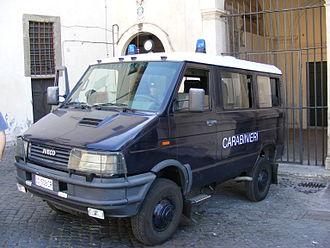 Iveco Daily - Carabinieri Iveco Daily 4X4 van.
