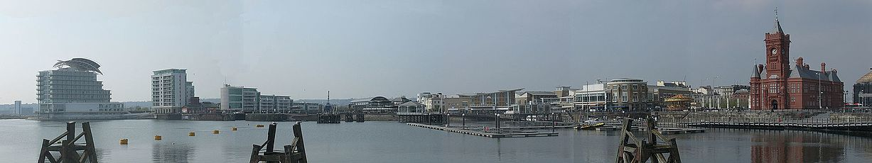 Panorama of the Cardiff Bay in March 2008