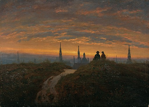 Carl Gustav Carus - Blick auf Dresden bei Sonnenuntergang