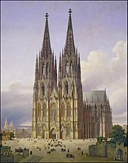 Ideal View of Cologne Cathedral from Southwest
